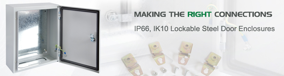 IP66, IK10 Lockable Solid Door Steel Enclosures