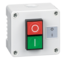 Control Stations - Dual Pushbutton, Single Switch Housing - 1DE.01.10AG