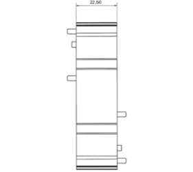 DIN Rail Enclosures and Accessories - DIN Rail 72mm Supports - DIME-M-BE2250