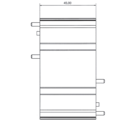 DIN Rail Enclosures and Accessories - DIN Rail 72mm Supports - DIME-M-FS-5000