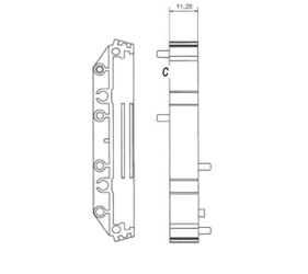 DIN Rail Enclosures and Accessories - DIN Rail 72mm Supports - DIME-M-SE1225