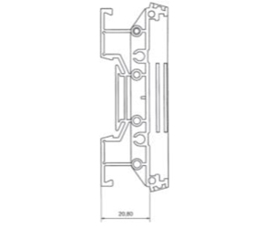 DIN Rail Enclosures and Accessories - DIN Rail 72mm Supports - DIME-M-SEF2250