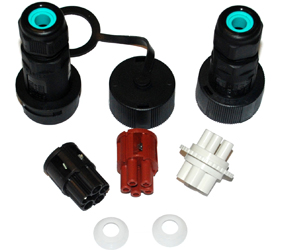 Weatherproof/Waterproof Connectors Range - TeePlug & Sockets - THR.405.S5A