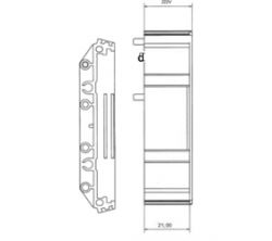 DIN Rail Enclosures and Accessories - DIN Rail 72mm Supports - DIME-M-SE2250